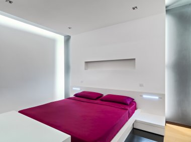 interior view of a modern bedroom