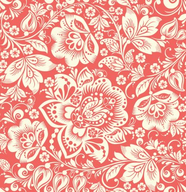 Vector Abstract Elegance Seamless pattern with floral background clip art vector