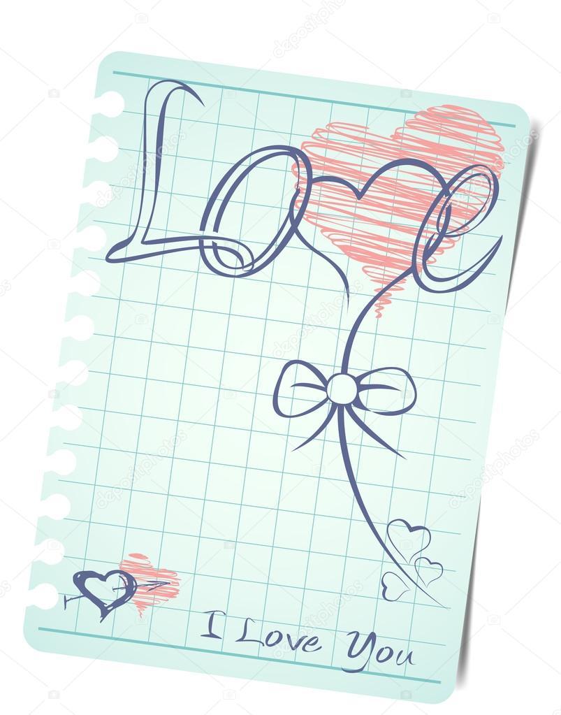 Vorlage Von Eine Liebe Karte Hintergrund Mit Leeren Briefpapier Zum