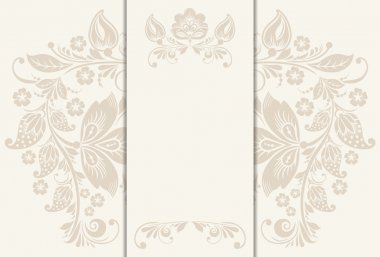 Vector floral rustic wedding cards, beautiful design.