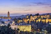 Fotografie Malaga, Spain Cityscape on the Sea