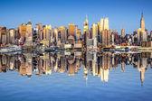 vista della città di New york