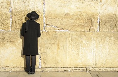 Jerusalem, Israel at the Western Wall. stock vector