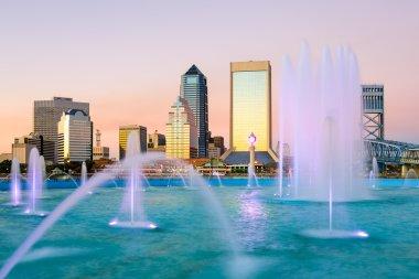 Jacksonville, Florida Fountain Skyline