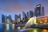 Singapore Skyline at the Bay
