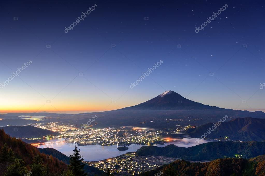Fuji Mountain and Lake Kawaguchi
