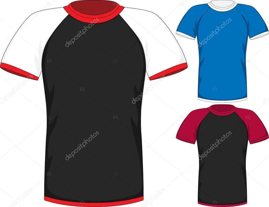 Vector Mens short sleeve t-shirt design templates — Stock Vector ...