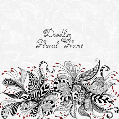 vector red, black and white floral pattern