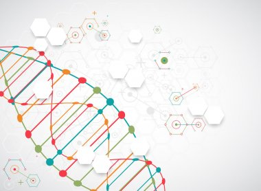Scientific template with DNA molecules