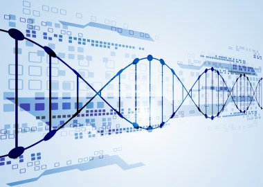 template with  DNA molecules background