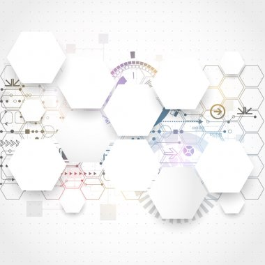 Abstract futuristic computer technology business background
