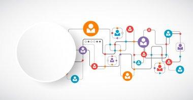 Network concept.  Social media.