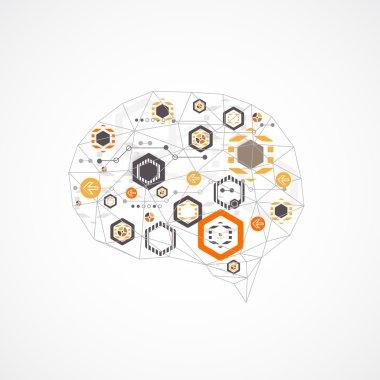 Abstract digital brain, technology concept
