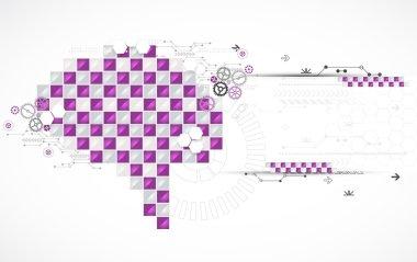 Abstract digital brain, technology concept.