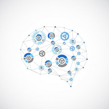 Abstract digital brain concept.