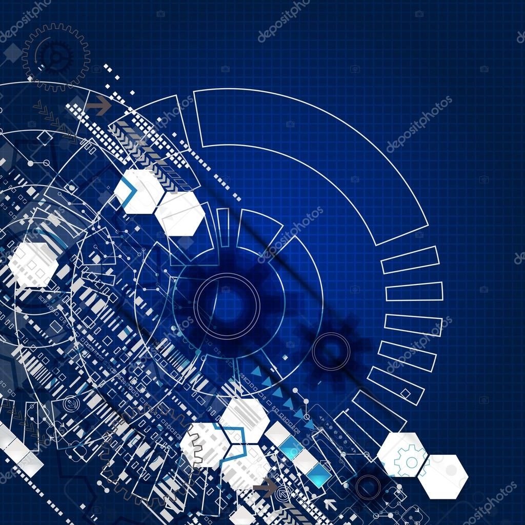 Abstract engineering future technology background  — Stok
