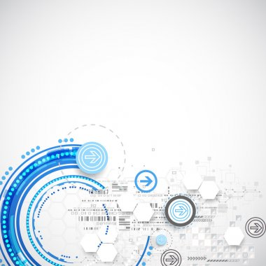 Abstract blue business science or technology background.