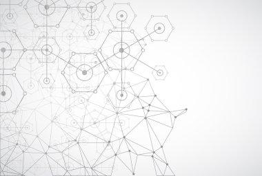 technology hexagonal background.