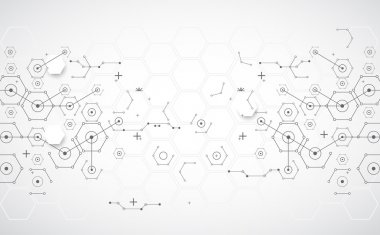 Abstract technology background with various technological elemen