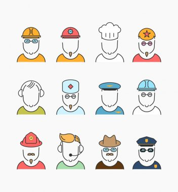 Various profession icons