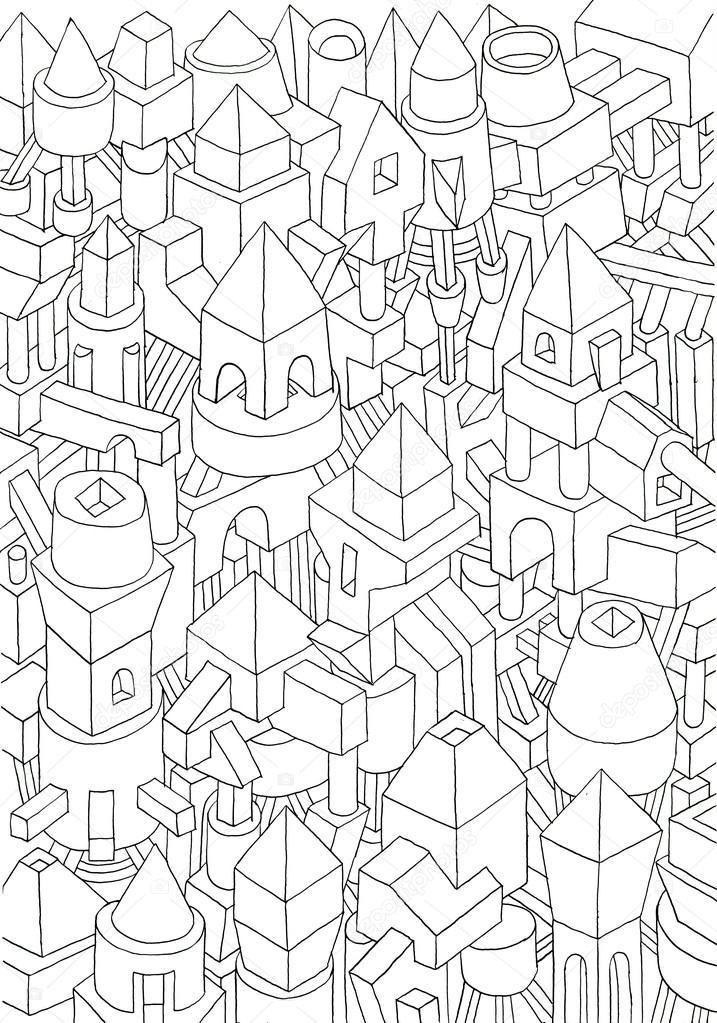 Dibujos Formas Geometricas Desenhos Animados Dibujo De