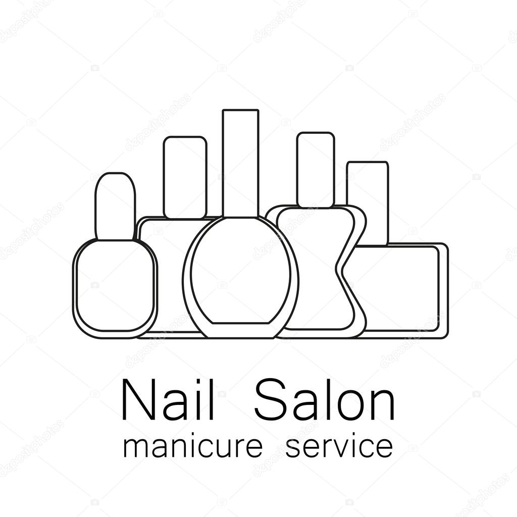 Nail salon manicure stock vector antoshkaforever 106638564 nail salon logo vector nail polish logo symbol of manicure simple linear nail polishes on a white background cosmetic label vector illustration ccuart Choice Image