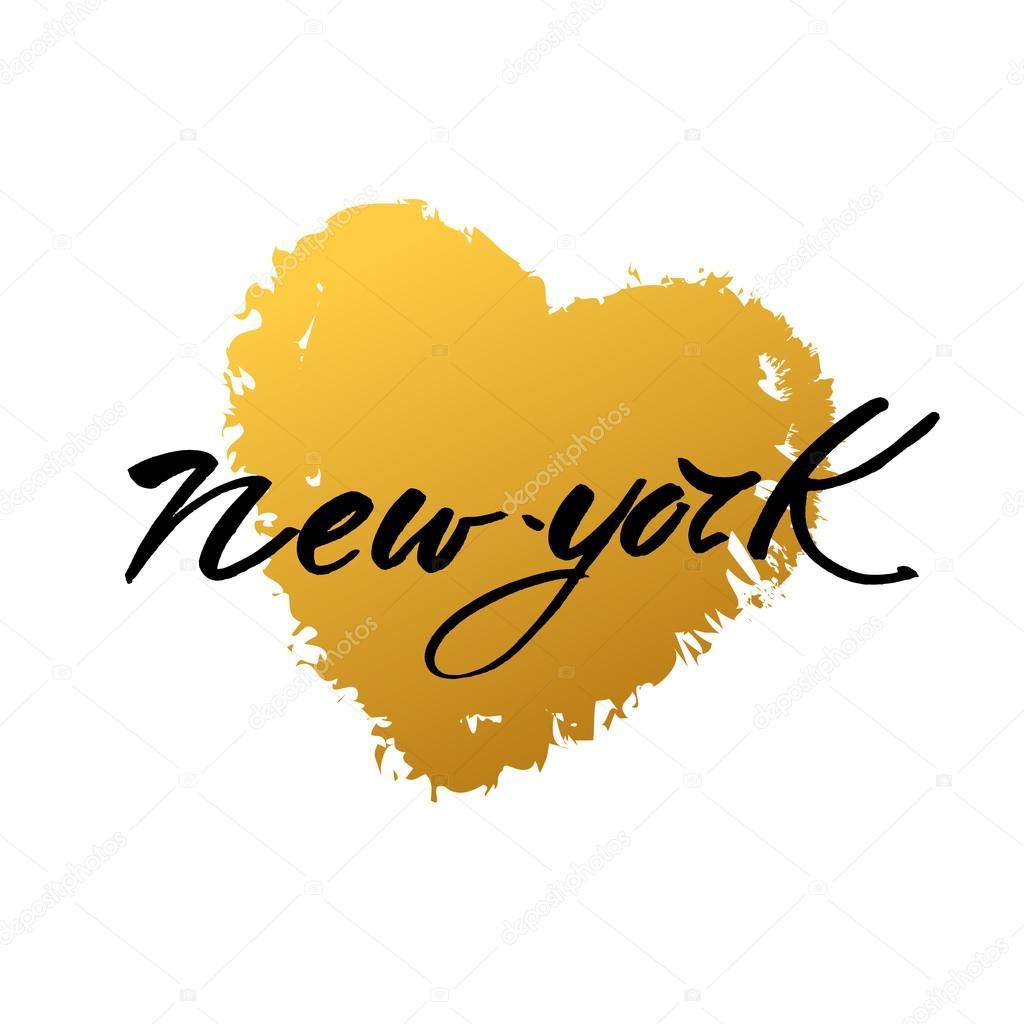 New York Liefde Tekst Stockvector Antoshkaforever 109433460