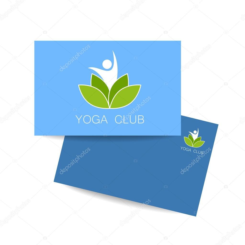 plantilla de logotipo de lotos de yoga — Archivo Imágenes ...