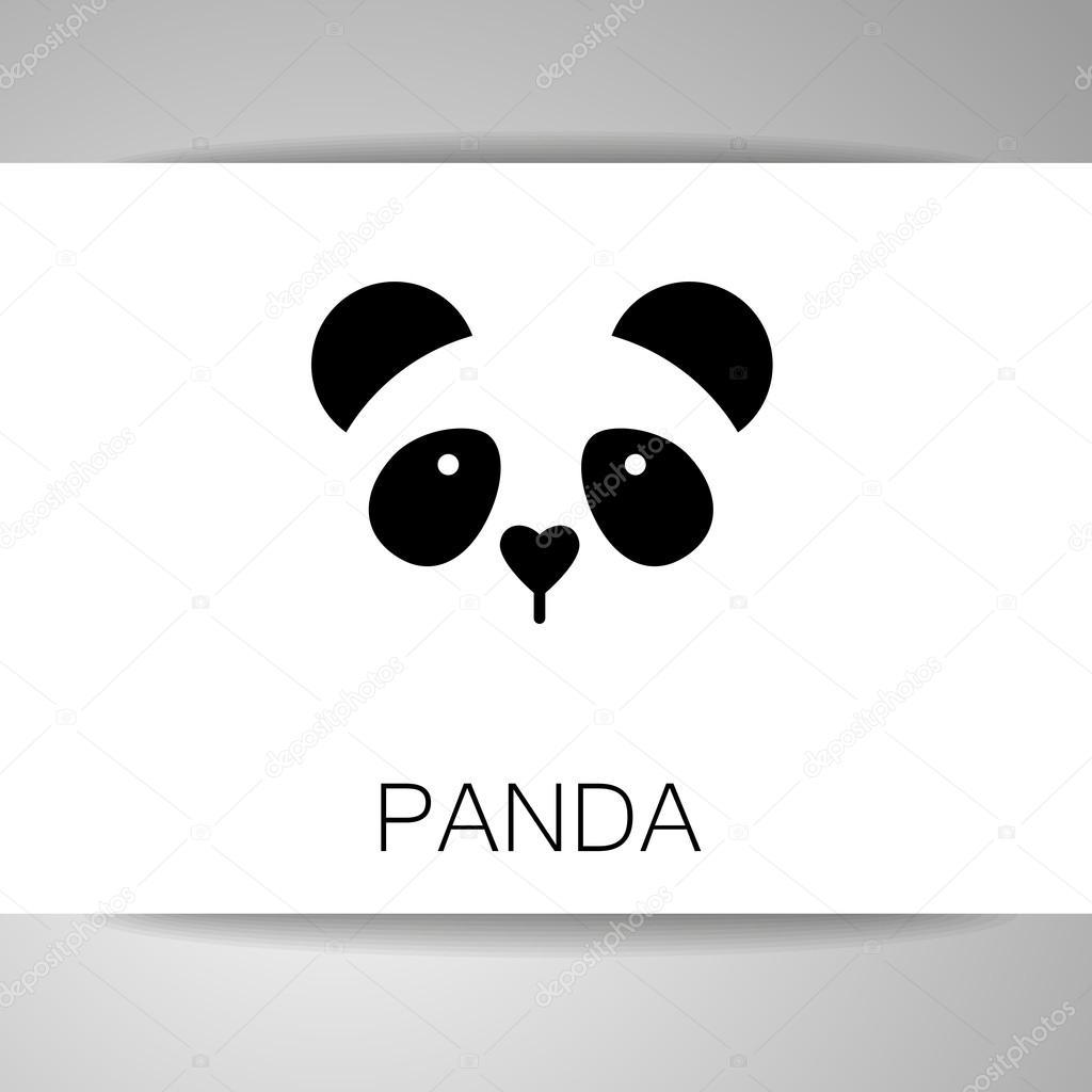 パンダのクマのテンプレート ストックベクター antoshkaforever