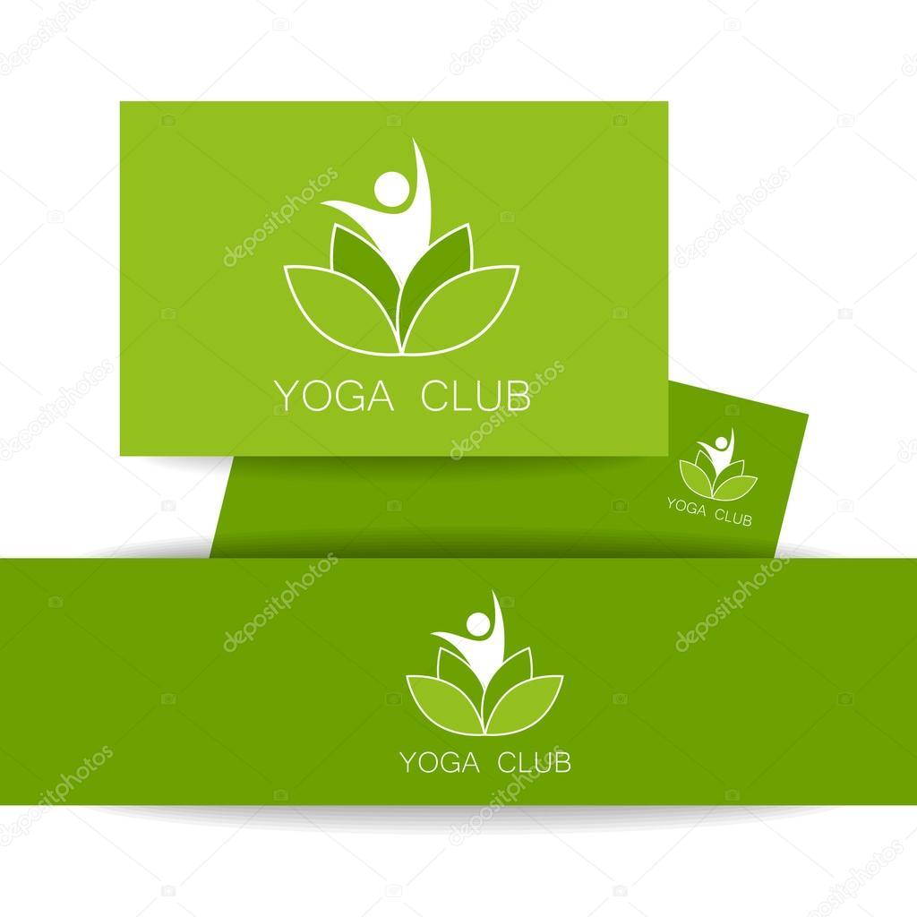 Yoga-Lotos-Logo-Vorlage — Stockvektor © antoshkaforever #109437630
