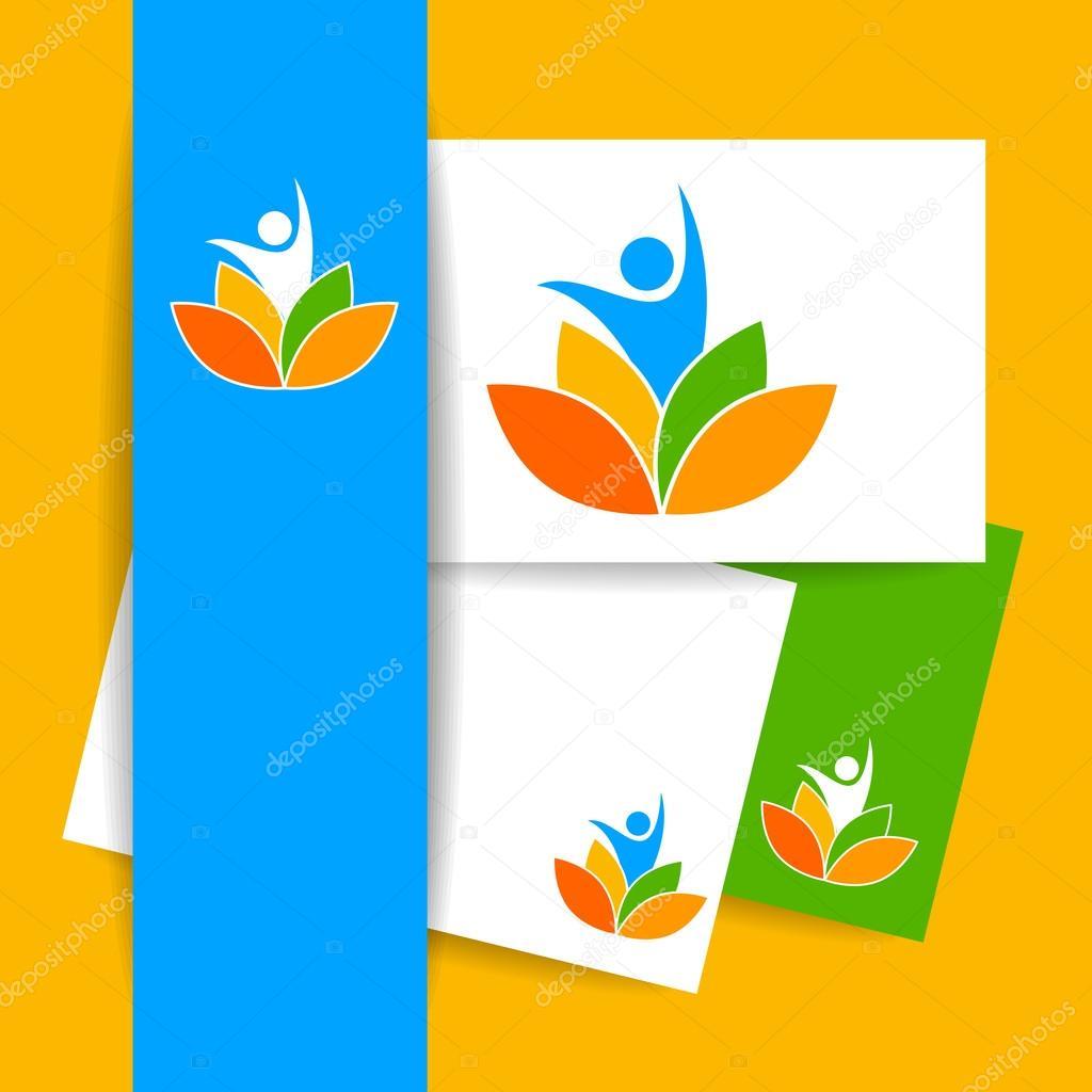 Yoga-Lotos-Logo-Vorlage — Stockvektor © antoshkaforever #109442334