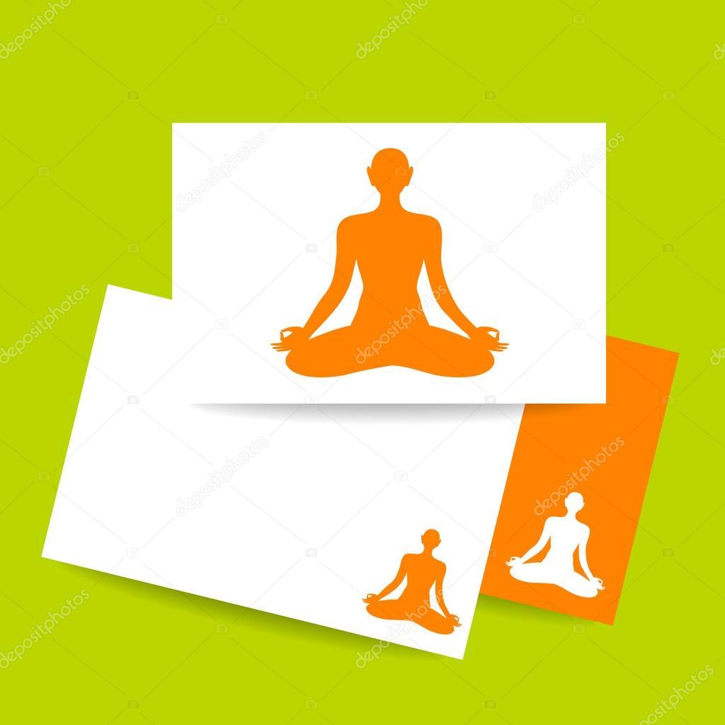 plantilla de muestra de lotos de yoga — Vector de stock ...