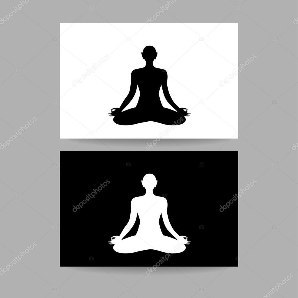 plantilla de muestra de lotos de yoga — Archivo Imágenes Vectoriales ...