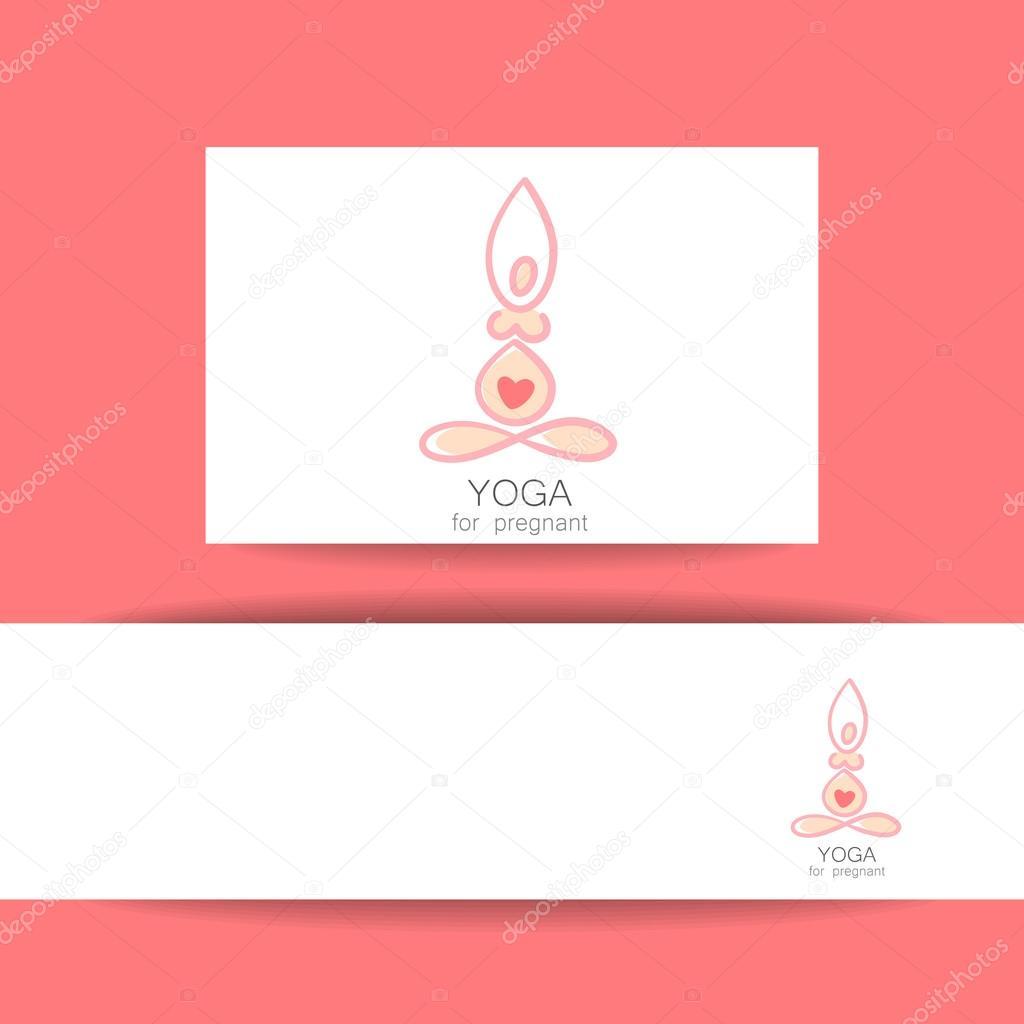plantilla embarazadas yoga — Archivo Imágenes Vectoriales ...