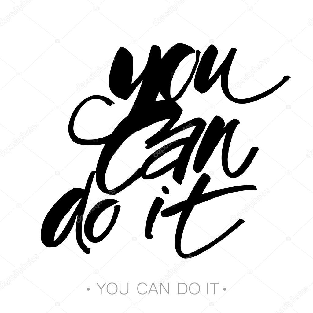 You Can Do It Stockvector Antoshkaforever 123283224