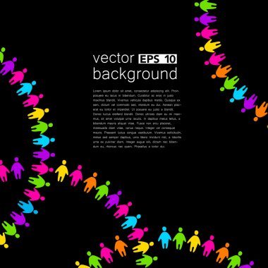 background template with colorful people