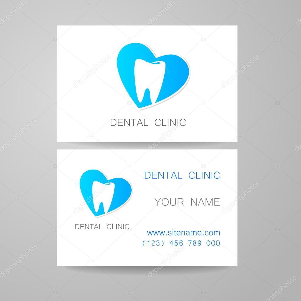 Clinique Dentaire Modele De Conception Logo Et Identite Visuelle Carte Visite Vecteur Par