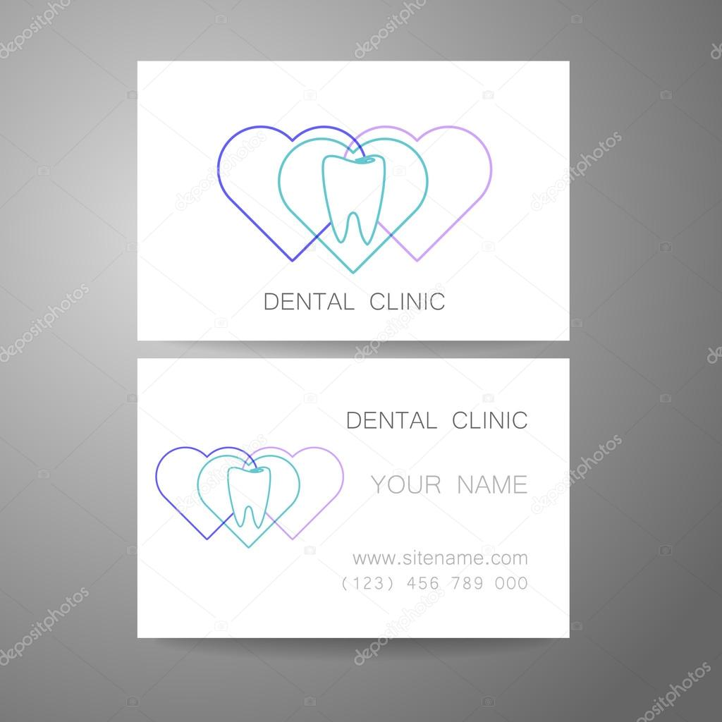 Dental clinic logo business card template stock vector dental clinic logo business card template stock vector reheart Gallery