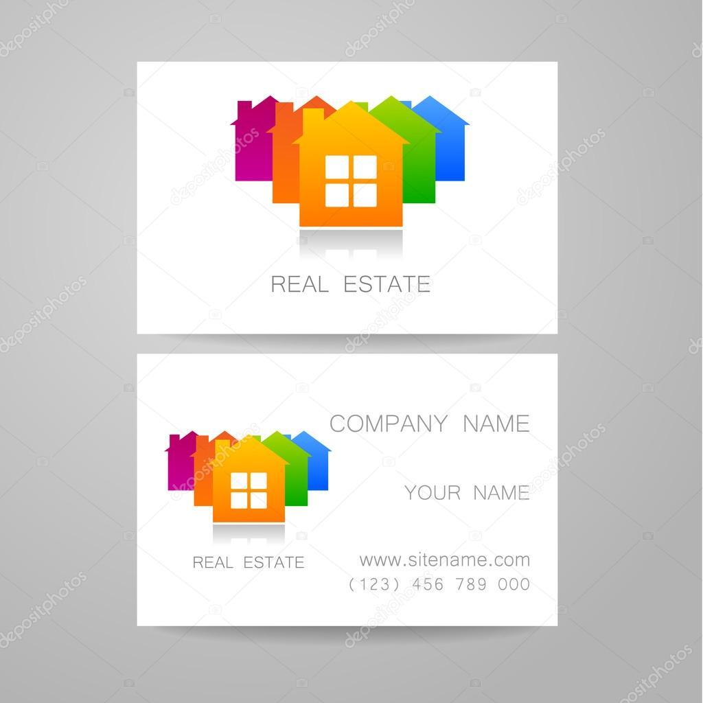 Carte De Visite Immobilier Image Vectorielle