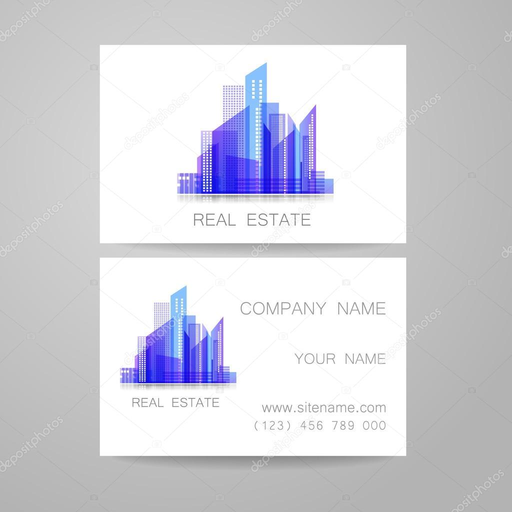 Carte De Visite Immobilier Illustration Stock