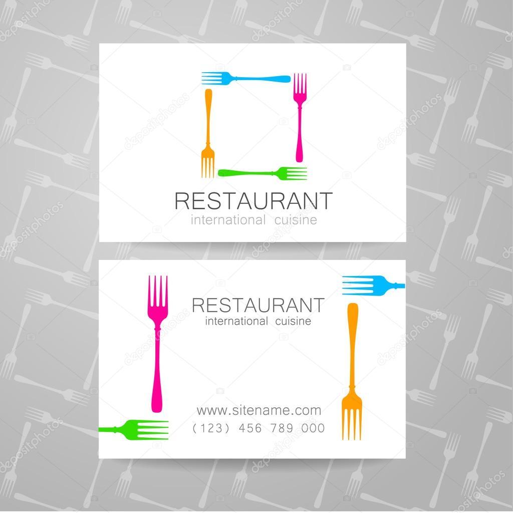 Restaurant logo business card template stock vector restaurant logo business card template stock vector reheart Gallery