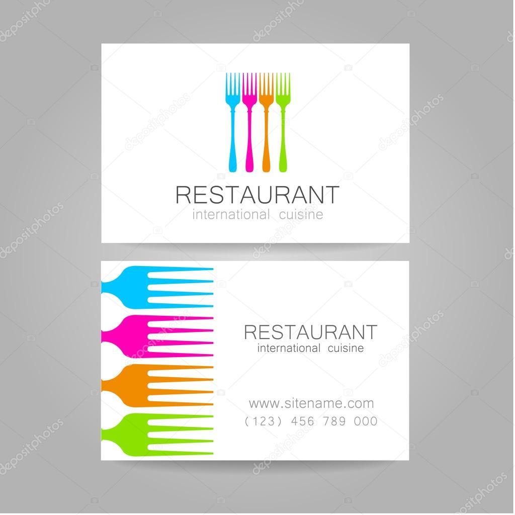 Restaurant-Logo-Visitenkarten-Vorlage — Stockvektor ...
