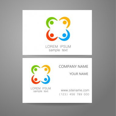 connecting people logo template