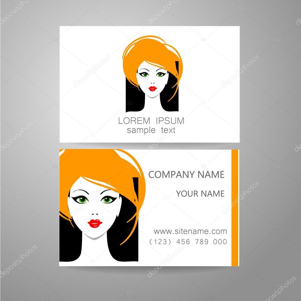 Tarjeta de identidad de plantilla de logotipo de peluquero — Vector ...