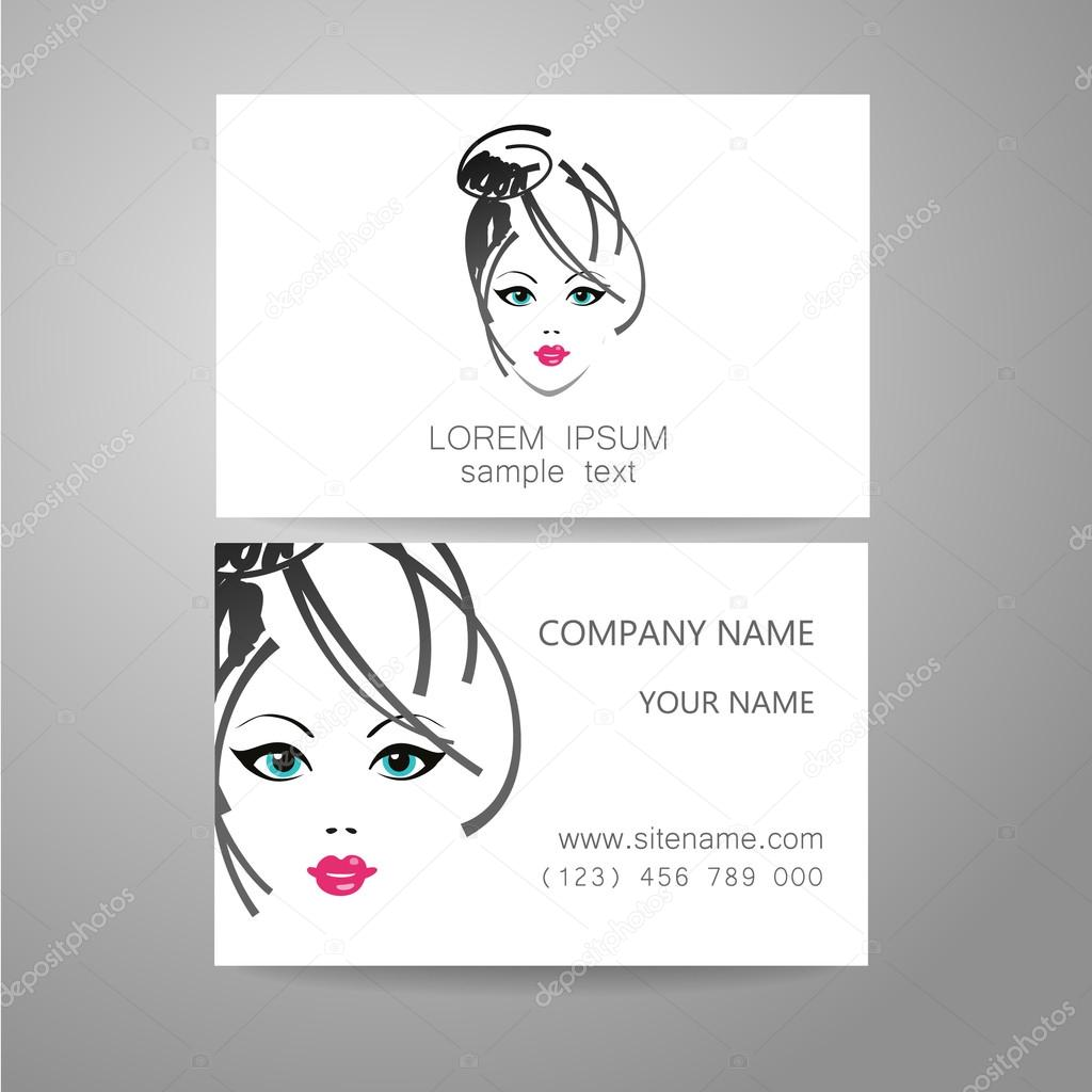 Tarjeta de identidad de plantilla de logotipo de peluquero — Archivo ...