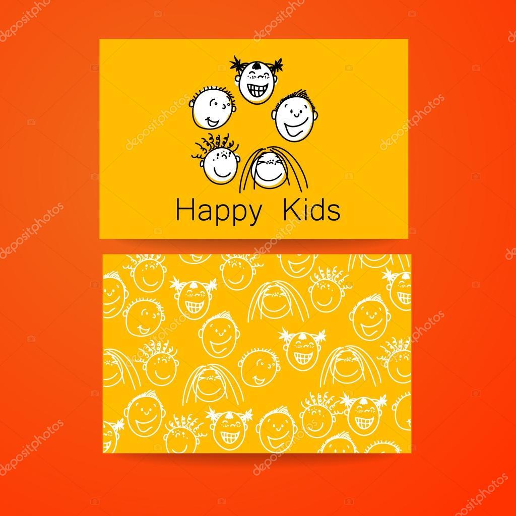 glückliche Kinder-logo — Stockvektor © antoshkaforever #85079558