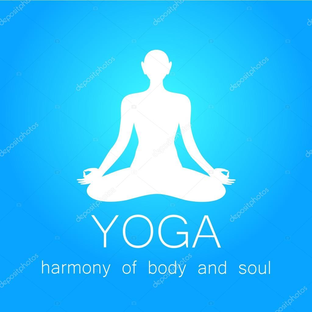 Plantilla de diseño de logo de vector de yoga — Vector de stock ...