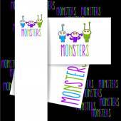 Monster-Logo-Schild
