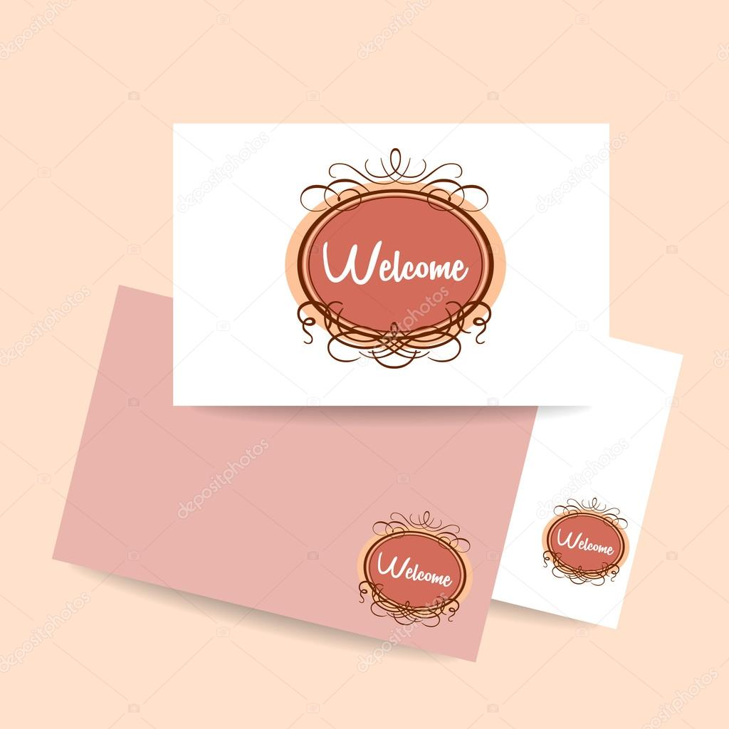Welcome invitation template stock vector antoshkaforever 94631724 welcome design template invitation gala decorations vector by antoshkaforever stopboris Gallery