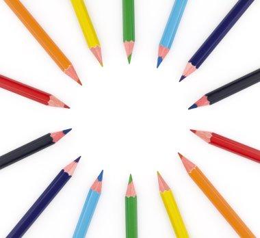 Multi colored pencils